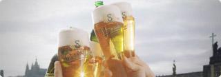 Adaptacija reklame za Staropramen pivo.